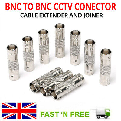 Bnc To Bnc Female Coupler Inline Cctv Camera Dvr Cable Joiner Connector Adapter • 3.28£
