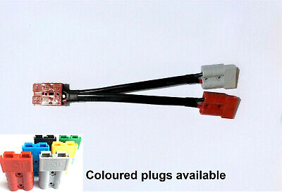 AU34 • Buy 50 Amp Anderson Plug Various Colours With Double Adaptor 8 B&S Cable