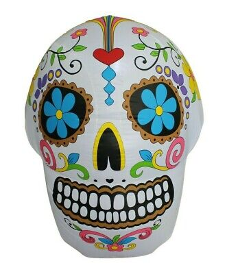 $ CDN73.98 • Buy Halloween LED Inflatable Yard Party Air Blown Blowup Decoration Colorful Skull