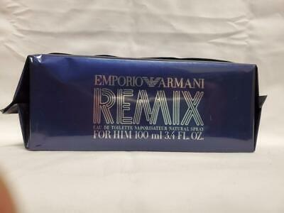 $99 • Buy EMPORIO ARMANI REMIX For HIM Cologne HUGE 3.4oz 100ml VERY RARE *FREE SHIPPING*