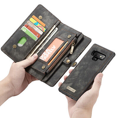 $ CDN21.31 • Buy Retro Leather Magnetic Removeable Wallet Case For Samsung Note10+ 9 8 S10