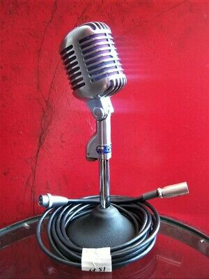 Vintage 1954 Shure 55 S Dynamic Cardioid Microphone Old Elvis W Accessories • 289.12£