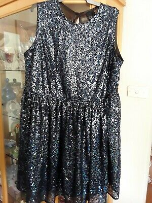 AU65 • Buy BNWT ~ Asos Curve Navy Blue Sequined Glitter Dress Size (20) ~ Weddings Formals