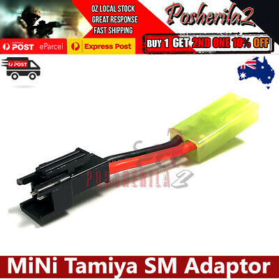 AU9.48 • Buy Mini Tamiya To SM Battery Adaptor Plug Jinming J8 J9 M4A1 Gel Ball Blaster HK416