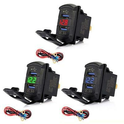 $ CDN15.44 • Buy Dual USB Rocker Switch QC3.0 Fast Charger LED Voltmeter For Boats Car Smartphone