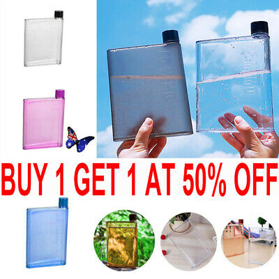 AU11.99 • Buy 420ml Flat A5 Book Pad Kettle Water Bottle Memobottle Portable Paper DrinkCup TH