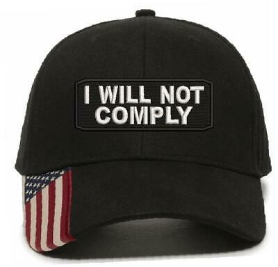 $ CDN29.43 • Buy I WILL NOT COMPLY HAT - 2nd Amendment Embroidered Adjustable Ball Hat Ball Cap