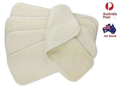 AU59.99 • Buy 10 X  Hemp & Cotton 4 Layers Nappy Inserts Liners Insert For Modern Cloth Nappy
