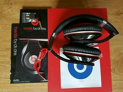 Beats By Dre STUDIO Monster Wired On-Ear Headphones Genuine Model 1.0 Box+ Extra • 49.99£
