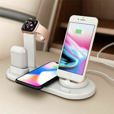 $ CDN22.40 • Buy 4in1 Qi Wireless Charger Fast Charging Dock For Apple Watch IPhone AirPods Stand