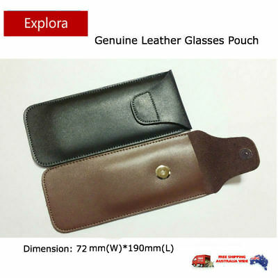 AU20 • Buy Genuine Leather Glasses Pouch Eyeglasses Reading, Spectacles, Sunglasses Case