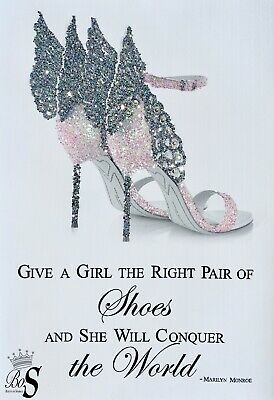 Sparkle Heels Picture, Marilyn Monroe Quote Glitter Wall Art, Any Size!  • 27.59£