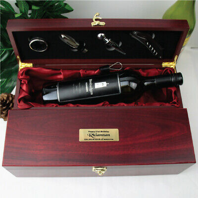 AU55 • Buy Birthday Personalised Wine Box Rosewood Gift Set |18th, 21st, 40th, 50th, 60th