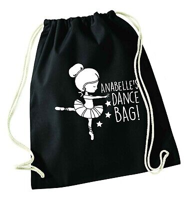 Personalised Dance Bag, Drawstring Bag Dancer Ballet Shoes Tutu Tap Shoes 6494 • 8.99£