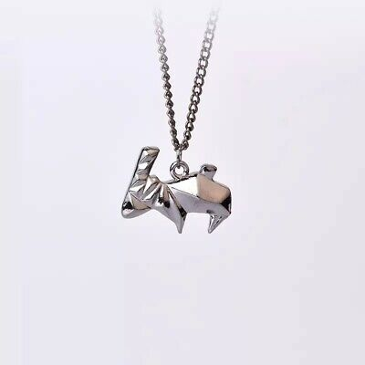 £4 • Buy UK Silver Origami Rabbit Necklace A6
