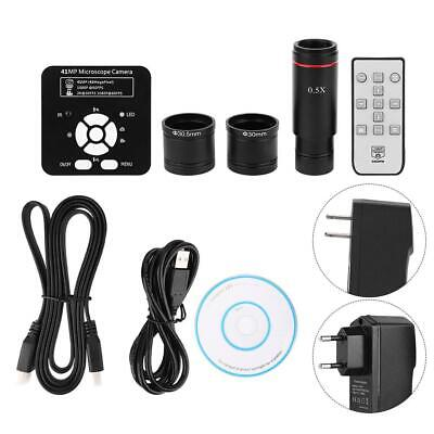 $172.87 • Buy 41MP HDMI Industrial Microscope Camera HD Camera With Adapter 0.5X Eyepiece Lens