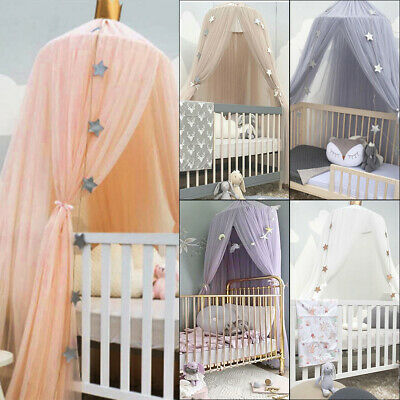 Kids Baby Bed Canopy Bedcover Mosquito Net Curtain Bedding Dome Tent Cotton • 14.19£