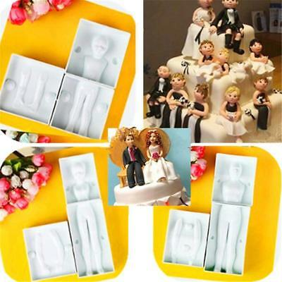 £3.51 • Buy 3D Girl Figure People Person Fondant Decorating Sugarcraft Mold Body Mould LH
