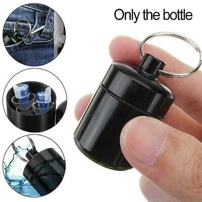 $1.18 • Buy Waterproof Small Metal Medicine Pill Box Case Bottle Holder Container Keychain