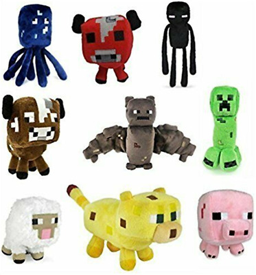 AU35.99 • Buy Minecraft Plush Toys 6 To 8 Inches Animals Soft Toy Plushies For Kids Gift