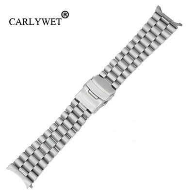 $ CDN32.11 • Buy 20 22mm Silver Hollow Curved End Watch Band Strap Bracelet For SKX007