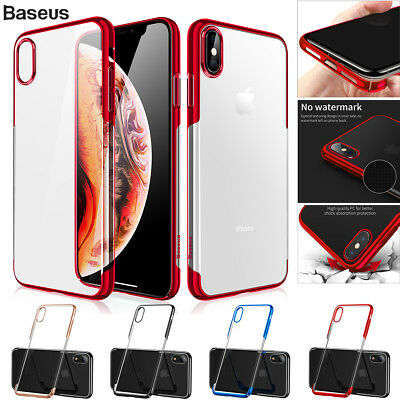 AU4.99 • Buy Baseus Clear Case Glitter Bumper Shockproof Cover Fr IPhone XS Max X XR 7 8 Plus