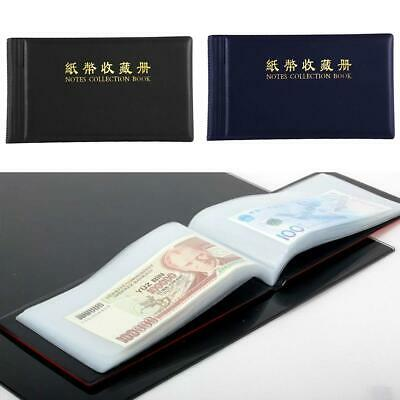 £4.75 • Buy Leather Paper Money Collection Album Pockets Bill Notes Stamps Book Holder
