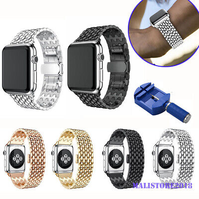 $ CDN11.57 • Buy For Apple Watch Series 5/4/3/2/1 Stainless Steel Wrist IWatch Band Strap 38/42mm
