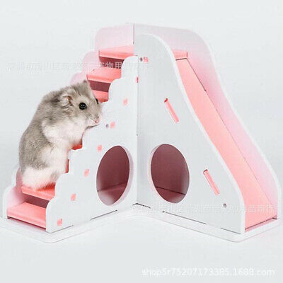 Pet Rat Hamster Toy Wood Climbing Ladder Exercise House Cage Nest Accessories UK • 6.13£