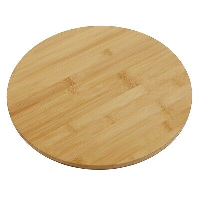 Bamboo Lazy Susan Turntable, Rotating Cake Decorating Table Serving Plate, 33cm • 11.95£