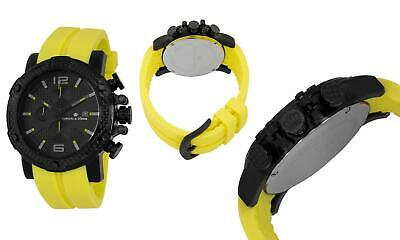 Herzog & Söhne Men' Quartz Watch With Black Dial Chronograph Display And Yellow • 55£