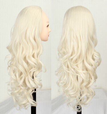 $17.98 • Buy 3/4 Half Wig Blonde Hair Fall Long Wave Synthetic Half Head Blonde Wig For Women