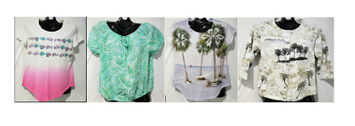 $19.95 • Buy Women's Tropical Top Set: Heart Of Palm, Sun Bay, & Onque Casuals 3 Blouses & Ja