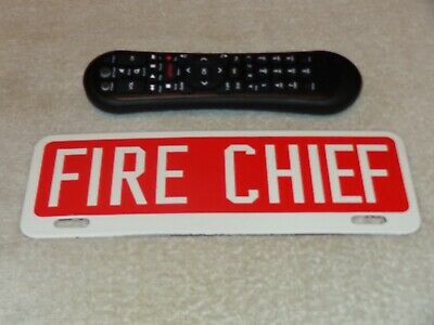 $ CDN200.93 • Buy Vintage Fire Department Chief Porcelain Metal License Plate Topper Sign! Fighter