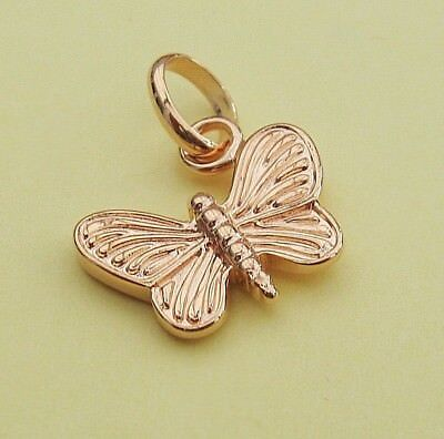 London Gold Butterfly Charm Attaches To The Links Of Your Bracelet Or Necklace • 3.99£