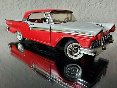 $125 • Buy FRANKLIN MINT 1957 FORD FAIRLANE 500 SKYLINER 1/24 SCALE CAR W/ Retractable Roof