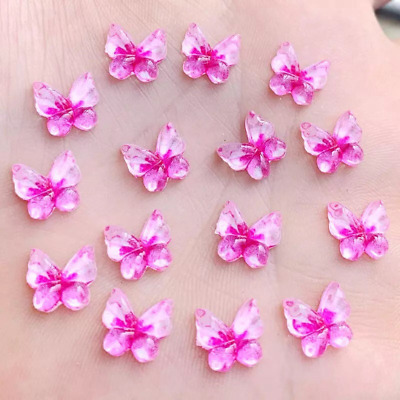 Butterfly Cabochons, Pink Butterfly Embellishments Set Of 20, Resin Flat Back,  • 2.75£