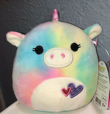 "$ CDN11.25 • Buy Squishmallows Kellytoy 5"" Esmeralda Tie Dye Unicorn Plush Valentines 2020"