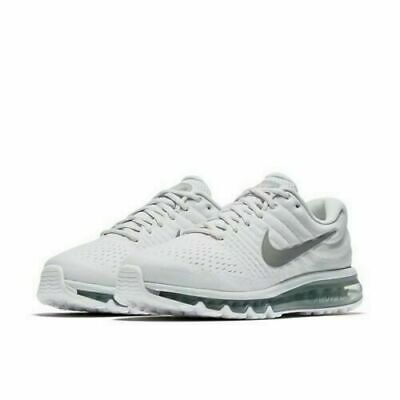 $118.95 • Buy NEW Sz 12 Men's Nike Air Max 2017 White Wolf Grey Platinum Running 849559 009