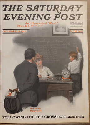 $ CDN31.79 • Buy October 27 1917 Saturday Evening Post Magazine Cover By Norman Rockwell