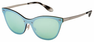 $75.38 • Buy Ray-Ban Blaze Cat Eye Sunglasses RB 3580N 042/30 43 Silver | Dark Green / Silver