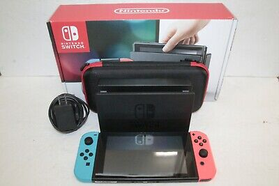 $ CDN354.75 • Buy Nintendo Switch 32GB Console With Neon Blue/Red Joy-Cons HAC-001 & Travel Case