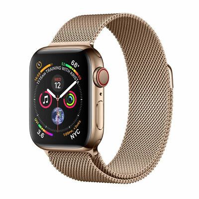 $ CDN652.95 • Buy Apple Watch Series 4 44 Mm Gold Stainless Steel Case With Gold Milanese Loop...