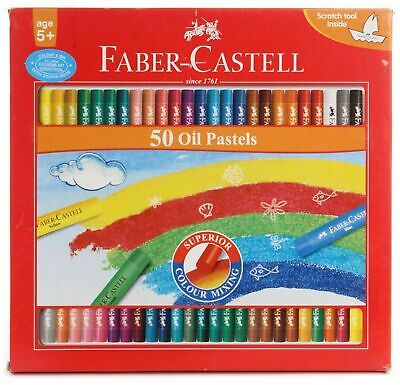 Faber-castell Oil Pastels Set Of 50 Color Pencil - Free Shipping L • 9.63£