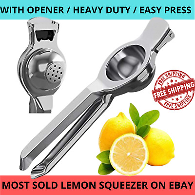 Lemon Lime Squeezer Juicer Stainless Steel With Bottle Opener Manual Hand Press • 5.48£