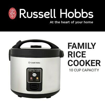 AU69.95 • Buy Russell Hobbs Family Rice Cooker Electric Food Steamer Stainless Steel Outer