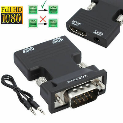 1080P HDMI Female To VGA Male With Audio Output Cable Converter Adapter Lead • 4.29£