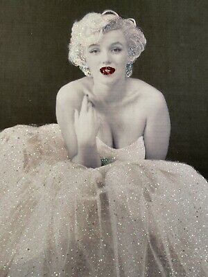 Glitter Marilyn Monroe Picture A4 Print Only NO FRAME With Glitter Diamond Dust • 9.95£