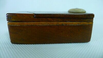£50.70 • Buy Antique Wooden Snuff / Tobacco Box Double Sliding Safety Lids