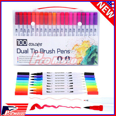 $7.50 • Buy Watercolor Brush Marker Pens Dual Tips Soft Fine Art Drawing Pen